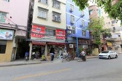 广州普通的街道社区 免版税库存照片