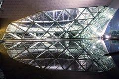 广州歌剧在晚上 免版税库存照片