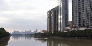广州现代地平线  免版税图库摄影