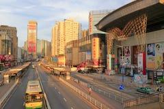 广州街市在清早 免版税库存图片