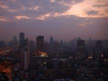 广州都市地平线在晚上 免版税库存照片