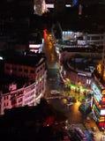 广州都市地平线在晚上 免版税库存图片