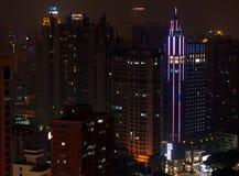 广州都市地平线在晚上 图库摄影