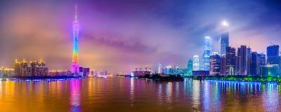 广州都市风景全景 免版税库存图片