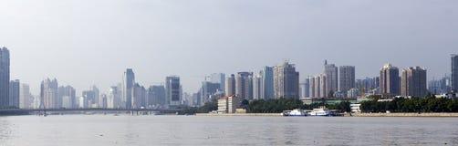 广州,中国现代地平线  免版税库存图片