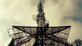 广播网的天线杆 股票视频