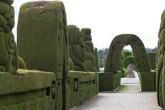广泛的修剪的花园在Tulcan厄瓜多尔 库存照片