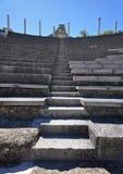 广泛的罗马废墟的罗马剧院在Vaison La罗马 图库摄影