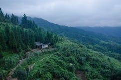 广西省中国人龙脊大阳台风景区龙胜县  库存图片