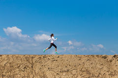 广角妇女赛跑,体育概念, 图库摄影