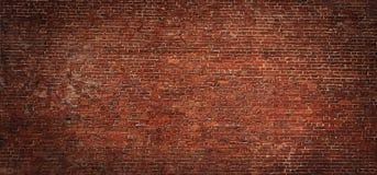 广角葡萄酒红砖墙壁背景 库存图片