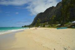 庄严和难以置信的白色海滩 免版税图库摄影