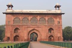 庄严德里红堡或Lal Qila的片段在德里,印度 它是世界遗产名录站点 免版税图库摄影