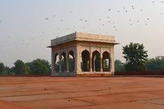 庄严德里红堡或Lal Qila的片段在德里,印度 它是世界遗产名录站点 库存图片