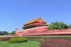 庄严故宫博物院在一个晴天,北京,中国 库存照片