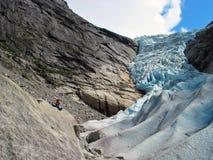 庄严的冰川 免版税库存图片