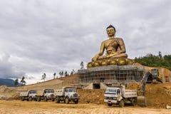 庄严菩萨雕象在不丹 图库摄影