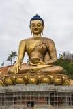 庄严菩萨雕象在不丹 免版税库存照片