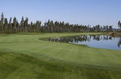 庄严路线的高尔夫球 库存图片