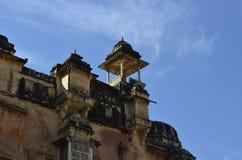 庄严阿梅尔堡垒的片段在斋浦尔拉贾斯坦印度 免版税库存照片