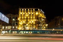 庄严巴塞罗那的旅馆 免版税库存图片