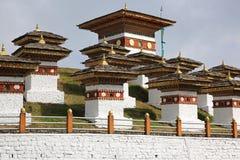 庄严Dochula通行证Choetens,不丹 图库摄影