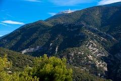 庄严Mont Ventoux在普罗旺斯 免版税图库摄影