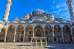 庄严Suleiman清真寺的看法在伊斯坦布尔,土耳其 免版税库存照片