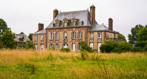 庄园住宅在Normandie,鲁昂,法国 免版税库存图片