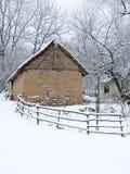 庄园冬天 库存照片
