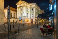 庄园剧院在布拉格 cesky捷克krumlov中世纪老共和国城镇视图 库存照片