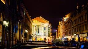 庄园剧院(Stavovske Divadlo)在布拉格 库存图片