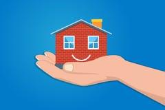 庄园家庭房子行业保险贷款微型模型抵押实际相关 免版税库存图片