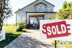 庄园房子例证实际被出售的向量 免版税图库摄影