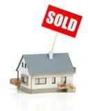 庄园房子例证实际被出售的向量 图库摄影
