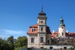 庄园房子在Bernolakovo,斯洛伐克 库存图片