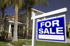 庄园房子实际销售额符号 免版税库存照片
