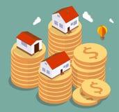 庄园舱内甲板房子实际租金销售额 免版税图库摄影