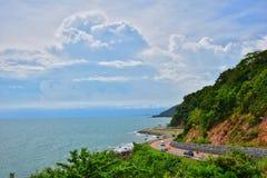 庄他武里省,泰国Nang Phaya小山风景点地标  免版税图库摄影