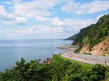 庄他武里,泰国 美丽的路 免版税库存图片