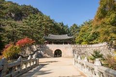 闻庆市,韩国- 2014年10月14日:Mungyeon第二个门  库存图片
