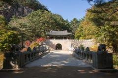 闻庆市,韩国- 2014年10月14日:Mungyeon第二个门  免版税图库摄影