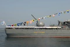 """庆祝†""""天军事-海军俄罗斯,城市Vladivos 免版税库存照片"""