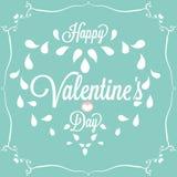 庆祝。在蓝色的愉快的情人节 库存图片