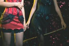 庆祝万圣夜或新年的神仙的时尚妇女! 库存图片