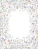 庆祝五彩纸屑框架 库存图片