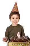 庆祝他的孩子的可爱的生日 免版税库存照片
