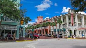 庆祝佛罗里达购物区 库存图片