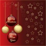 庆祝假日新年和圣诞节 免版税库存照片