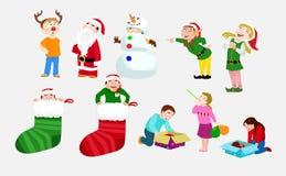 庆祝儿童圣诞节 库存图片